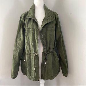 Army green anorak jacket coat old navy utility